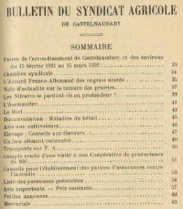 bulletin du syndical agricole