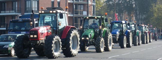Fédérations Départementales des Syndicats d'Exploitants Agricoles manifestation